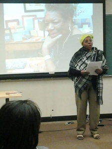 Mary Wright, CWSE Associate Artist, reading her poem.