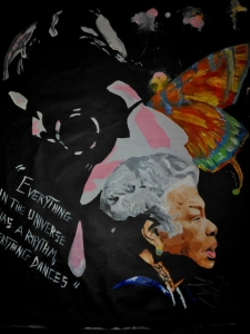 Maya Angelou's painting by Tray Arts